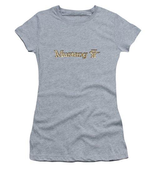 Mustang II Chrome Emblem Women's T-Shirt