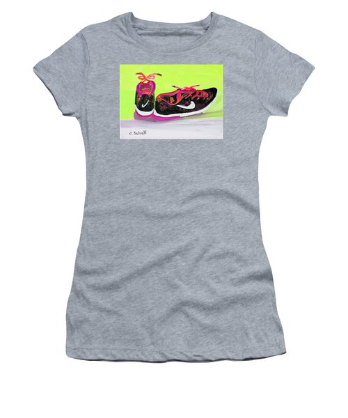 My Comfy Shoes Women's T-Shirt (Athletic Fit)