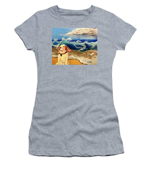 My Dog And The Sea #1 - Beagle Women's T-Shirt