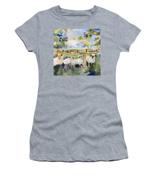 My Sheep Will Follow Me Women's T-Shirt (Junior Cut) by Teresa Tilley