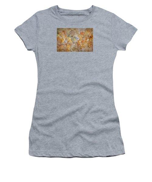 Myrtle Warbler Women's T-Shirt (Junior Cut) by Suzanne Handel