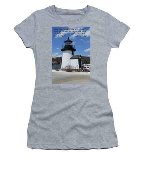 Mystic Lighthouse John 8-12 Women's T-Shirt (Athletic Fit)