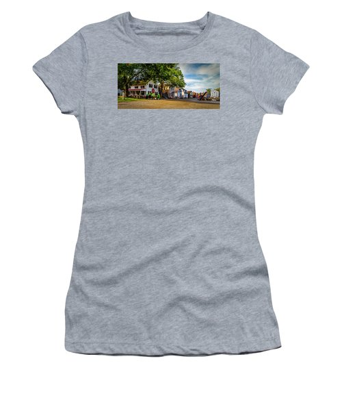 Mystic Seaport Village Women's T-Shirt (Athletic Fit)