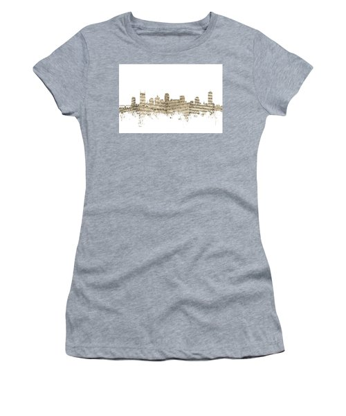 Nashville Tennessee Skyline Sheet Music Women's T-Shirt