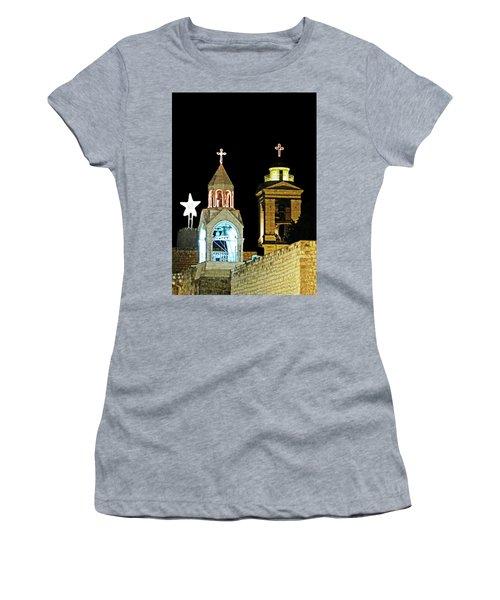 Nativity Church Lights Women's T-Shirt (Athletic Fit)