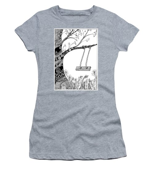 Nature Is Calling Come Out And Play Women's T-Shirt (Athletic Fit)