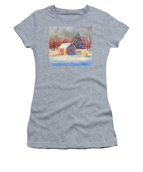 Nauvoo Winter Scene Women's T-Shirt (Athletic Fit)