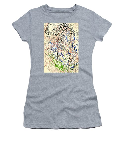 Nerve Cells Santiago Ramon Y Cajal Women's T-Shirt (Athletic Fit)