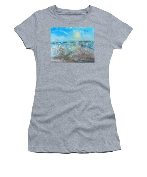 Boat In The Bay Women's T-Shirt (Athletic Fit)