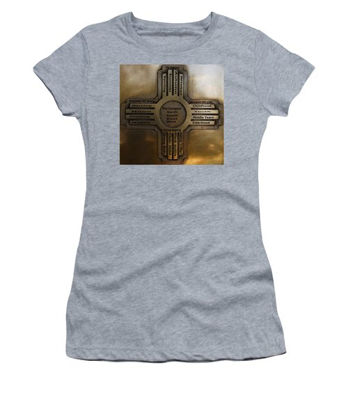 New Mexico State Symbol The Zia Women's T-Shirt (Junior Cut) by Joseph Frank Baraba