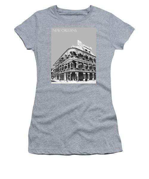 New Orleans Skyline French Quarter - Silver Women's T-Shirt