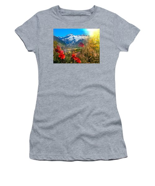 New Zealand Southern Alps Montage Women's T-Shirt