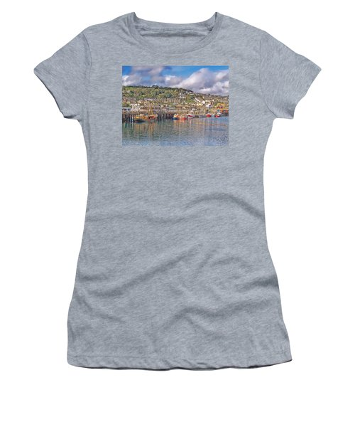 Newlyn Harbour Cornwall 2 Women's T-Shirt (Athletic Fit)