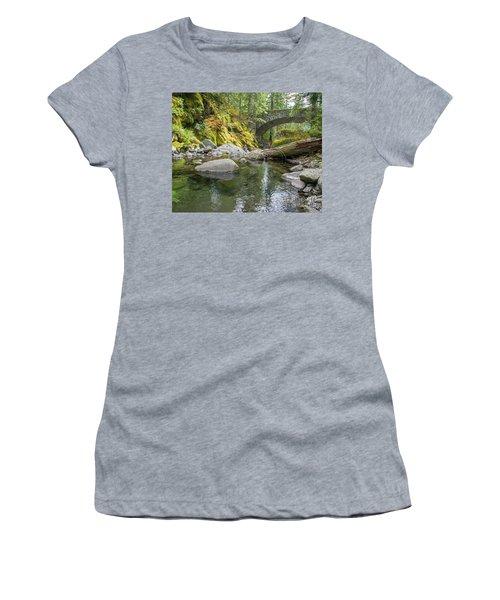Nickel Creek 1024 Women's T-Shirt (Junior Cut) by Chuck Flewelling