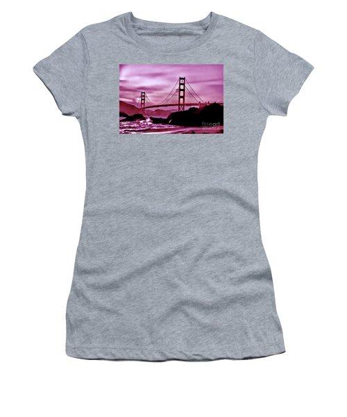Nightfall At The Golden Gate Women's T-Shirt