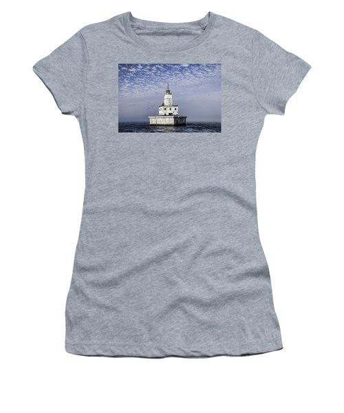 North Manitou Shoal Light Women's T-Shirt (Athletic Fit)