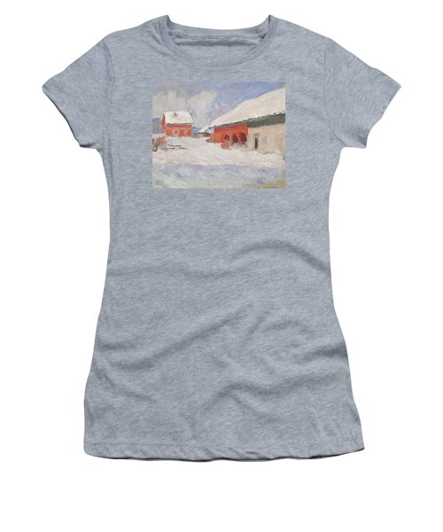 Norway, Red Houses At Bjornegaard, 1895 Women's T-Shirt