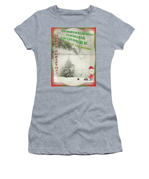Not A Bad Little Tree Women's T-Shirt (Athletic Fit)