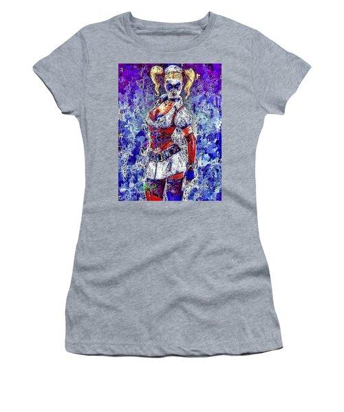 Women's T-Shirt featuring the mixed media Nurse Harley Quinn by Al Matra