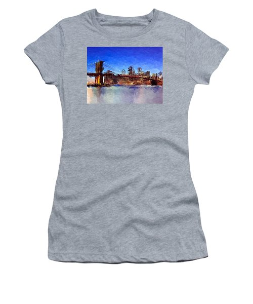 Nyc Abstract  Women's T-Shirt (Athletic Fit)