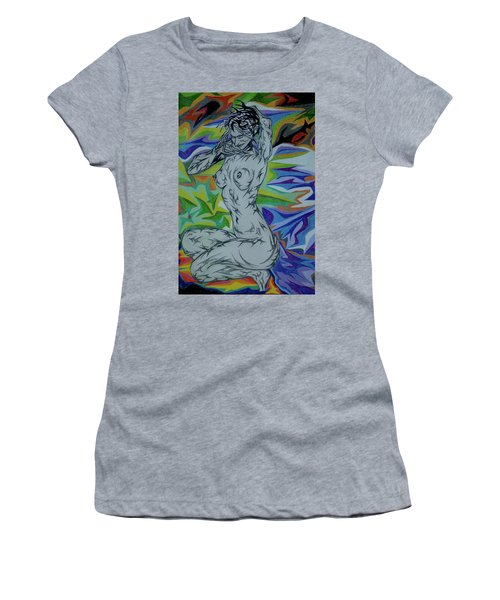 Nymph In Paradise Women's T-Shirt (Athletic Fit)