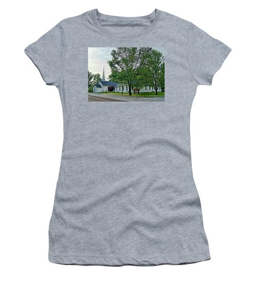 Women's T-Shirt (Junior Cut) featuring the photograph Oakland Christian Church by Cricket Hackmann