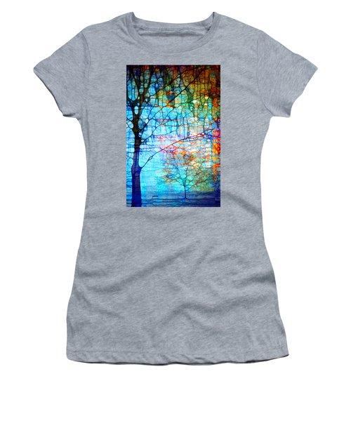 Obscured In Blue Women's T-Shirt