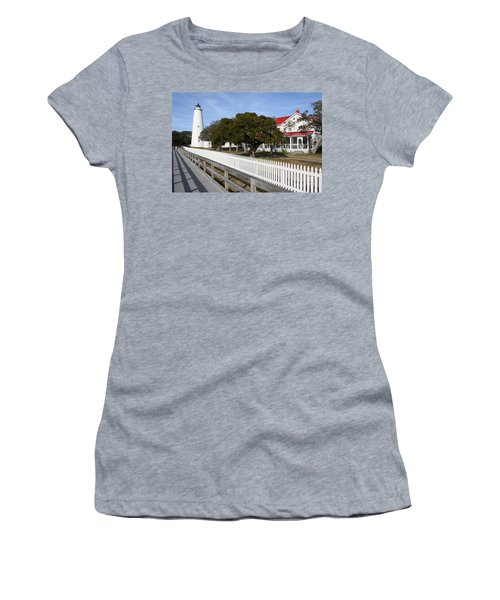 Ocracoke Lighthouse Women's T-Shirt (Athletic Fit)