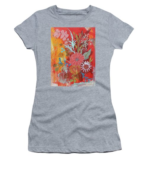 Women's T-Shirt (Athletic Fit) featuring the painting Ode To Spring by Robin Maria Pedrero