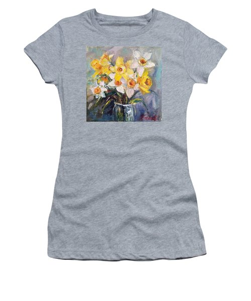 Ok Finished! #springflowers #daffodils Women's T-Shirt (Athletic Fit)