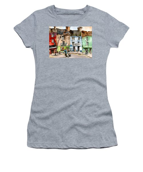 Ok Wheres The Party. Clifden, Galway. Women's T-Shirt (Athletic Fit)