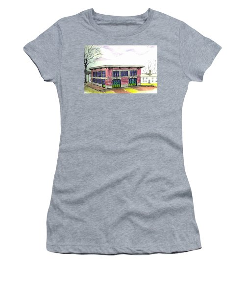 Old Beverly Firestation Women's T-Shirt (Athletic Fit)