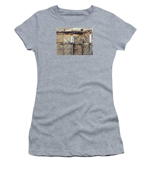 Old Rusted Barn Door Women's T-Shirt (Junior Cut) by Merton Allen