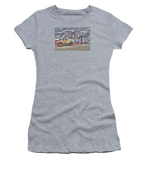 Old Time Gas Station Women's T-Shirt (Athletic Fit)