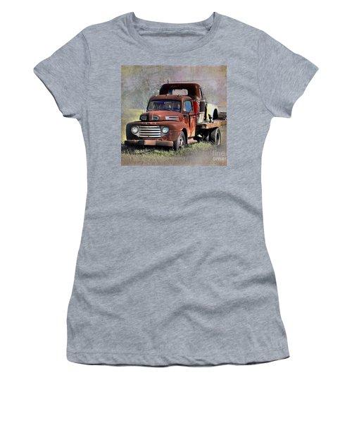 Women's T-Shirt (Junior Cut) featuring the photograph Old Trucks by Savannah Gibbs