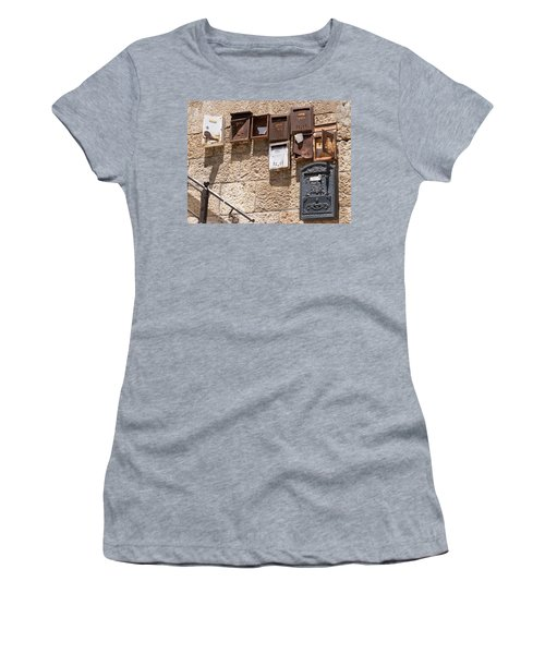 Old  Mailboxes In Jerusalem Women's T-Shirt (Athletic Fit)