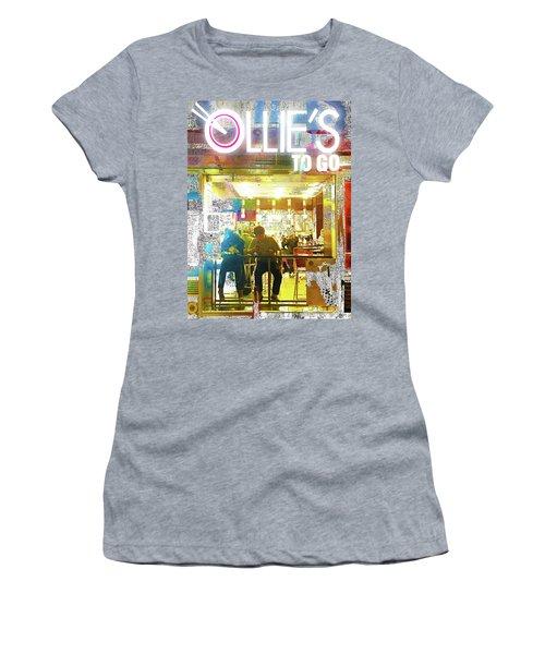 Women's T-Shirt (Junior Cut) featuring the mixed media Ollie's by Tony Rubino