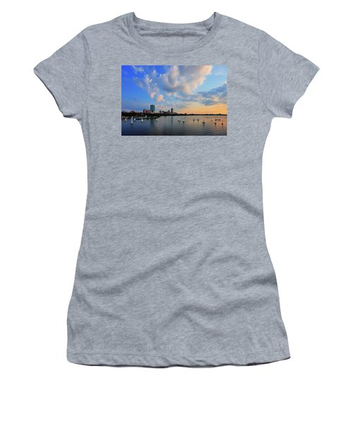 On The River Women's T-Shirt (Junior Cut) by Rick Berk