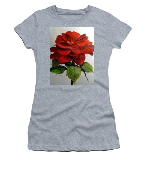 One Beautiful Rose Women's T-Shirt (Athletic Fit)