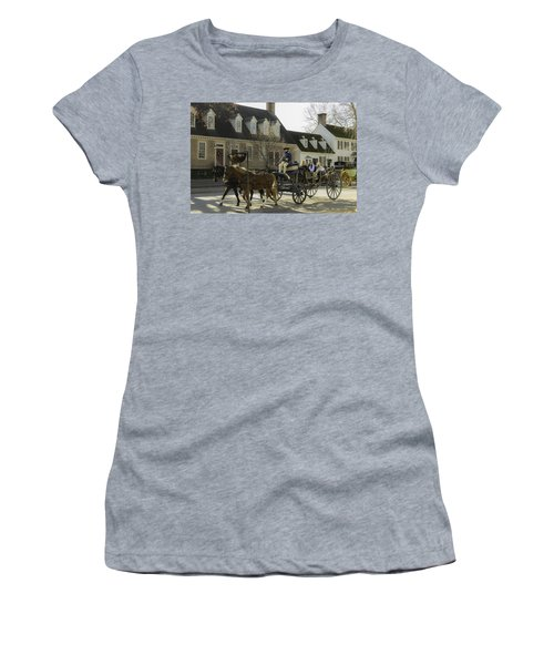 Open Carriage Ride In Colonial Williamsburg Virginia Women's T-Shirt