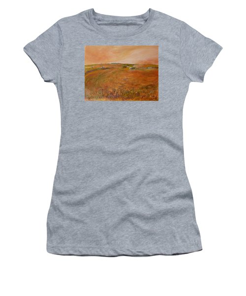 Orange Afternoon  Women's T-Shirt (Junior Cut) by Helen Campbell