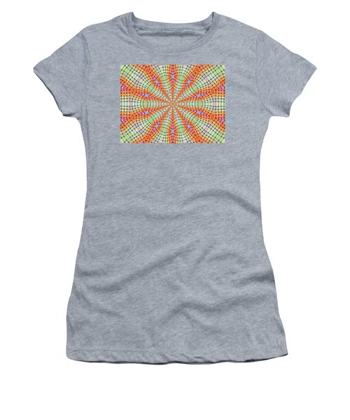Women's T-Shirt (Athletic Fit) featuring the digital art Orange And Green by Elizabeth Lock