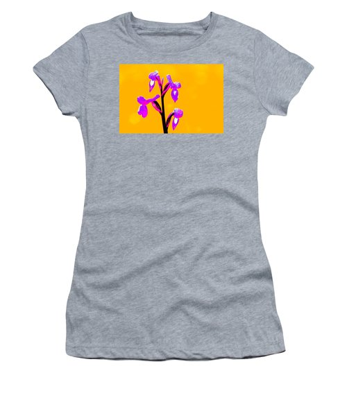 Orange Champagne Orchid Women's T-Shirt (Athletic Fit)