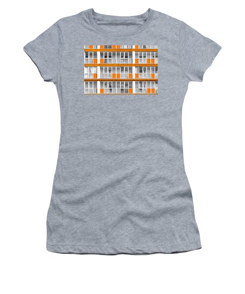 Orange Exterior Decoration Details Of Modern Flats Women's T-Shirt