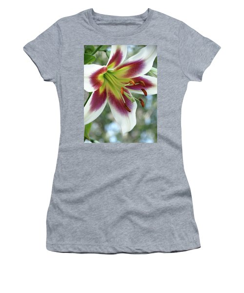 Oriental Lily In Summer Sunset Women's T-Shirt (Athletic Fit)