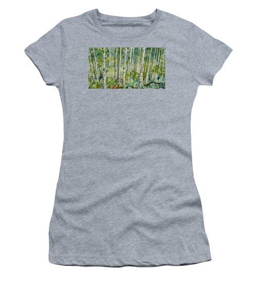 Original Watercolor - Summer Aspen Forest Women's T-Shirt
