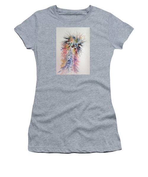 Ostrich Women's T-Shirt (Junior Cut) by Kovacs Anna Brigitta