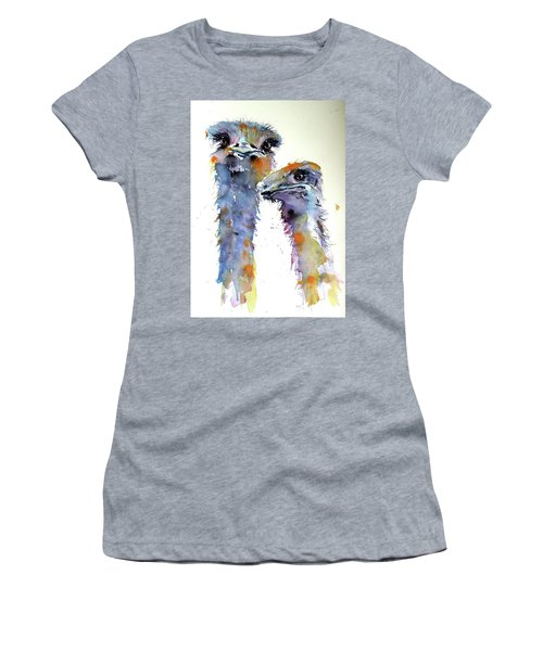 Ostriches Women's T-Shirt (Athletic Fit)