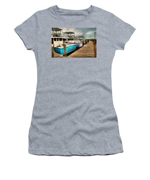 Outer Banks Fishing Boats Waiting Women's T-Shirt (Junior Cut)