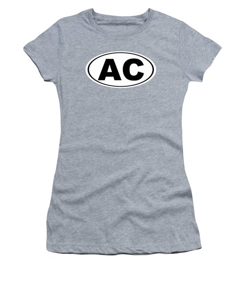Women's T-Shirt (Junior Cut) featuring the photograph Oval Ac Atlantic City New Jersey Home Pride by Keith Webber Jr